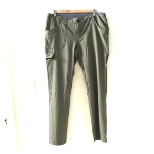 Olive Green hiking pants.